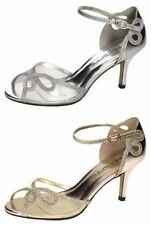 Zapatos de tacón de mujer Anne Michelle color principal plata sintético
