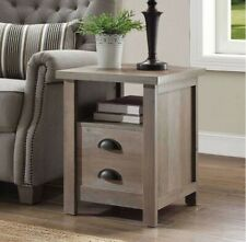 Better Homes and Gardens Granary Modern Farmhouse End Table, Rustic Grey