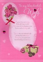 Wonderful Wife Happy Birthday Greeting Card Lovely Verse Greetings Cards