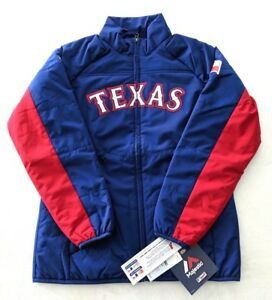 Texas Rangers Majestic Double Climate Full Zip Jacket Women Size Medium