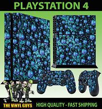 PS4 skin Trippy hippie psychédélique feuille d'herbe AUTOCOLLANT + pad vinyle