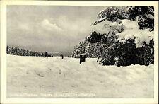TORFHAUS Altenau AK Ski-Wiese Skifahrer mit Partie a.d. Jugendherberge um 1940