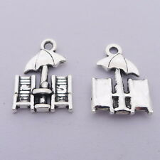 10pcs Beach Chairs Charms Tibetan Silver Bead DIY Jewelry Pendant 15*20mm
