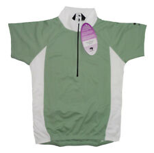 Bellwether Sharp Cycling Jersey Womens Large L Short Sleeve Sage Green and White