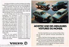 PUBLICITE ADVERTISING 095  1977  les VOLVO  ( 2p)  343 66 264 244