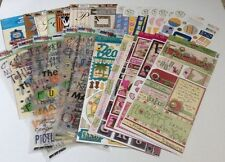 Lot  Of Bo Bunny- Scrappy Cat- Phrase Cafe- Sandy Lion- Stickers Scrapbooking