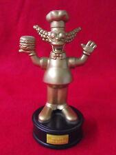 Alte Figur Krusty der Clown sprechend auf Podest Die Simpsons Burger King old