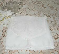 LOVELY VINTAGE 1940's FOLD-OVER EMBROIDERED CLOTH NAPKIN STORAGE HOLDER-NICE!
