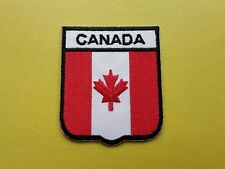 WORLDWIDE FREEPOST COUNTRY SHIELD FLAG SEW & IRON ON PATCH - CANADA