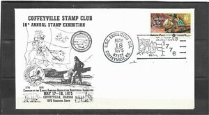 1975 Coffeyville Kansas Stamp Club 16th Annual Stamp Exhibition Event Cover