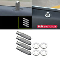 8pcs Auto Door Bolt Lock Pin Knob Trim for Mercedes Benz C W205 E W213 GLC GLE