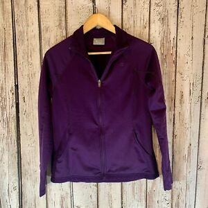 Champion Women's Mock Neck Long Sleeve Medium Weight Purple Shirt Size Medium