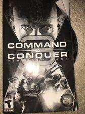 EA Games Command & Conquer Tiberium Wars, PC DVD, Case, Disk, & Manuals