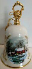 Gorham fine bone china Currier and Ives Christmas bell Noel 1978 vintage