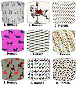 Lampshades Ideal To Match Carousel Fairground Wall Decals & Horses Duvet Cover