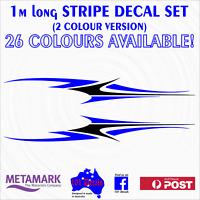 1m STRIPE #2 STRIPING 2 colour Marine Boat,Half Cabin graphic decal sticker set