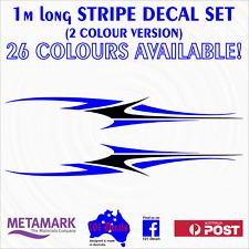 1m STRIPE #2 STRIPING 2 colour Caravan,motorhome,car,ute,boat decal sticker set