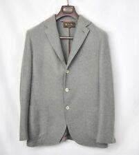 LORO PIANA Gray Soft 100% Cashmere Blazer Coat Jacket 52 42 Unlined $3995!
