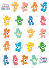 20 NAIL DECALS *THE  CAREBEARS * CHARACTER THEMED WATER SLIDE NAIL DECALS