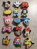 Lot of 15 Disney Charactors shoe charms for Crocs shoe Other use Craft Scrapbook
