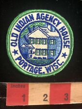 Vintage OLD INDIAN AGENCY HOUSE Portage Wisconsin Patch - National Register 96O3