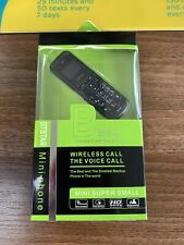 world smallest mobile phone Black Dual Sim New With Box Unlocked