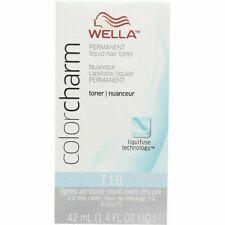 Wella Color Charm Permament Liquid Hair Color Toner 42mL Lightest Ash Blonde T18