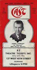 "James Stewart ""HARVEY"" Martyn Green ""MIKADO"" 1948 New York ""CAST"" Theatre Guide"
