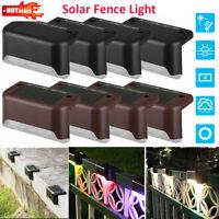 4pcs Solar LED Stair Lamp Waterproof Garden Outdoor Landscape Path Fence Light