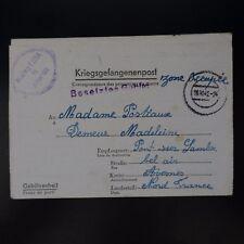 LETTRE PRISONNIER GUERRE STALAG VIII A -> PONT / SAMBRE KRIEGSGEFANGENENPOST POW