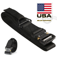 Tactical Rigger Belt Nylon Adjustable Quick Release Buckle Military Airsoft Belt