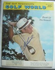 J.C. SNEAD signed 1971 GOLF WORLD magazine AUTO Autographed JC HOT SPRINGS VA 71
