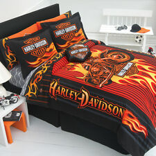 Harley Davidson Flame Rider Fireball Sheet Sets-Full Size