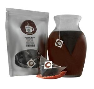 Orange Spice Cinnamon Tea Pyramid Sachets Herbal Loose Leaf Tea ICED or HOT