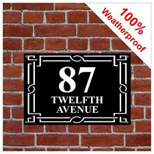 Retro design house sign Weatherproof custom 9137 printed with number or address