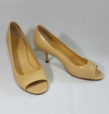 8fe1b53952ee Kate Spade Size 6.5 B Patent Leather Heels Peep Toe Nude Career Made in  Italy