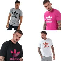Mens adidas Originals Trefoil Short sleeve T-Shirt Grey,Black,Blue,Pink,White