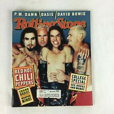 October 1995 Rolling Stone Magazine Red Hot Chili Pepers College Special Oasis
