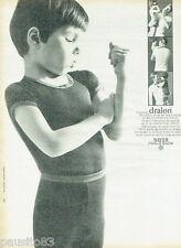 PUBLICITE ADVERTISING 115  1966  DRALON BAYER sous vetements enfants  garçon