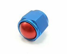-10 AN Male Flare Cap Block Off Fitting Blue PRE-61029