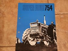 County Super Four 754 original tractor sales brochure from 1969 with 4 pages