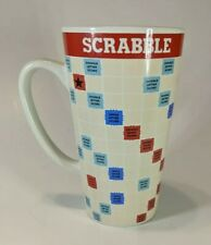 Scrabble Board Mug Game Coffee Cocoa Collectible Red Blue Green Yellow Tall Cup