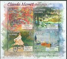 SOLOMON ISLANDS GREAT IMPRESSIONISTS CLAUDE MONET SHEET MINT NH