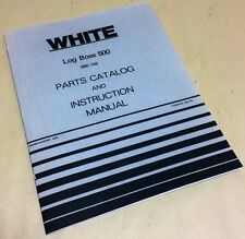 WHITE LOG BOSS 500 WOOD SPLITTER PARTS CATALOG INSTRUCTION OPERATORS MANUAL