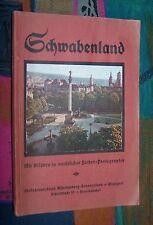 SCHWABENLAND - Führer durch Württemberg und Hohenzollern um 1920 mit Farbbildern