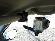 In Car Camera Mount for GoPro. Visor Dash Window Mount works with any Camera