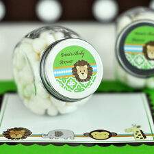 24 Jungle Safari Theme Baby Shower Personalized Candy Jars Favors Lot