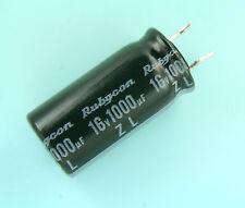 2000pcs Rubycon ZL 1000uf 16v 105C Radial Electrolytic Capacitor NEW