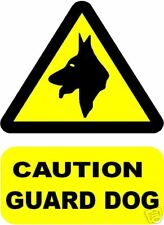 CAUTION GUARD DOG SIGN/NOTICE L