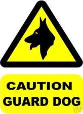 CAUTION GUARD DOG SIGN/NOTICE L